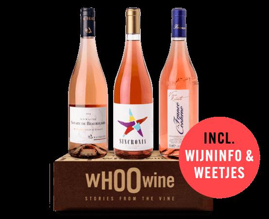 WHOOwine Box rosé wijn