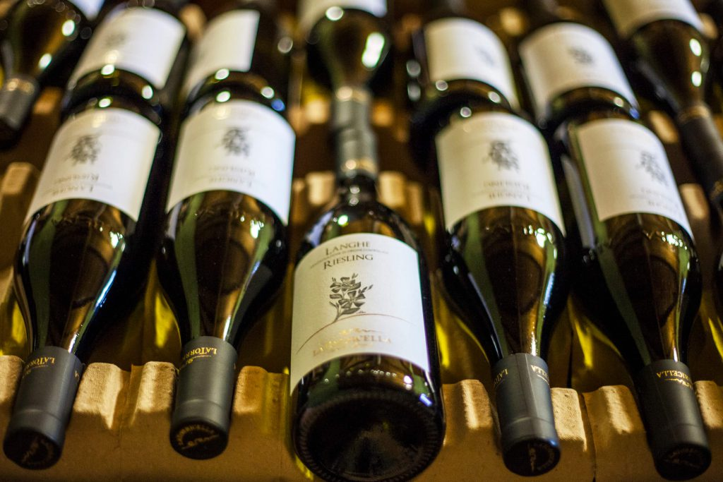 wijn onderkant fles