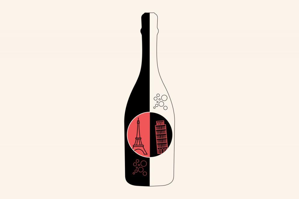 Champagne of prosecco